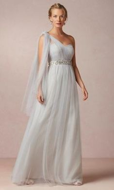 Misty grey BHLDN bridesmaid dress for  175 at  PreOwndWedDress Vestido  Convertible 64064ffc12cf