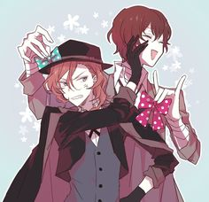 I can imagine Dazai whining about how Chuuya would look cute with those bows XD