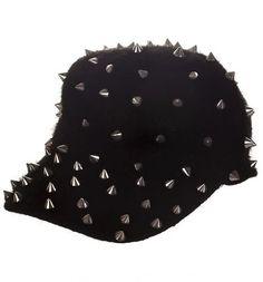 Retro Fluffy Black Studded Cap from Chelsea Doll xoxo