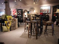 Clerkson's Furniture and Home Supplies 85 Hurontario St. Wine Barrel Furniture, Blue Mountain, Ontario, Bar Stools, Solid Wood, Relax, Dining Table, Shopping, Design