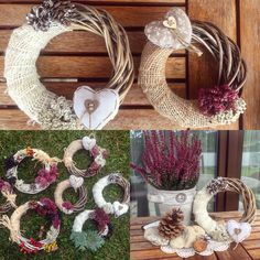 Let's make the wreath!   Simply, natural..