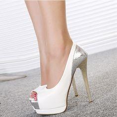 US$ 69 Womens Sexy Snakeskin Slim High Heels Platform Peep Toe Stiletto Pumps Shoes