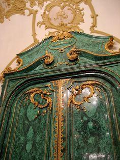 Malachite Doors at Chapultepec Castle, Mexico. Made from Russian Malachite