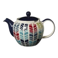Mix & Match Chevron 6-Cup Chatsford Filter Teapot | Teapot | China Teapots | Novelty Teapots | Whittard of Chelsea