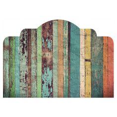 Distressed Panels Adhesive Headboard Wall Decal por WallsNeedLove