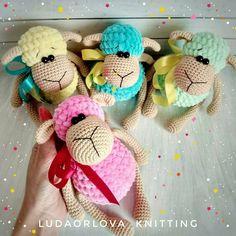 Crochet toy sheep amigurumi