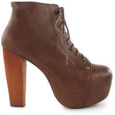 Jeffrey Campbell Lita Shoe (460 BRL) ❤ liked on Polyvore featuring shoes, boots, ankle booties, jeffrey campbell, heels, tan, party shoes, womens-fashion, heeled boots and lace up high heel boots