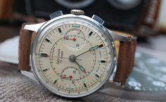 Sekonda Poljot Strela 3017 Chronograph Space Gents Pilot Watch Made In USSR c1966-Stunning! by DISTINCTIVEPURVEYOR on Etsy