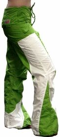 "Girls Hipster ""Elliptic"" UFO Pants (Green/White)"