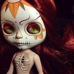 WIP (Kittytoes) Tags: valencia square skeleton skull wip sugar squareformat diadelosmuertos blythe custom calavera gid melancholykitties iphoneography instagramapp uploaded:by=instagram