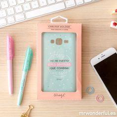 Carcasa para Samsung J3 – Hoy me he puesto una sonrisa que combina con todo #phone #case #samsung #accessories #mrwonderfulshop