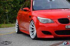 """BMW M5 E60 - Vossen VVS-CV1 Custom White Finish 20x10.5"""" F / 20x10.5"""" R"""