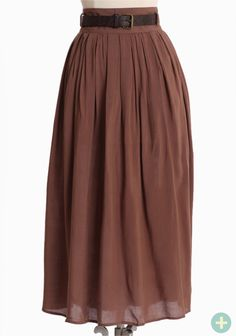 """Hawthorne Curvy Plus Midi Skirt 34.99 at shopruche.com. Softly knit, this lightweight skirt in dark taupe is completed with a hidden side zipper, and optional faux leather belt, and flattering pleats for texture and movement.  100% Rayon, Imported, 36"""" waist, 32"""" length from top of waist, *All measurements taken from a size 1XL"""