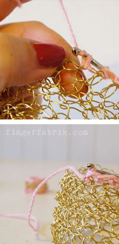 DIY Crochet jewellery tutorial * DIY Häkelschmuck