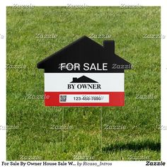 Shop For Sale By Owner House Sale With QR Template Sign created by Ricaso_Intros. Personalized Products, Customized Gifts, For Sale Sign, Corner Designs, Business Branding, Estate Homes, Design Your Own, Create Your Own, Templates