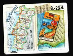 We booked a journey to Portugal, Algarve. Travel Sketchbook, Art Sketchbook, Smash Book Inspiration, Cute Journals, Travel Journals, Travel Crafts, Watercolor Journal, Scrapbooking, Bullet Journal