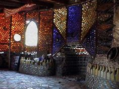 Grandma Prisbrey's Bottle Village in Simi Valley, California was created from 1956 to 1980