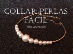 rubi. fotos de mis manualidades : Collar de perlas