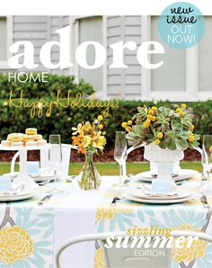 Adore Home magazine january/2012. I want the fabric of these runners.
