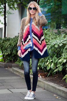 that is quite the coat. Poppy in London. #PoppyDelevingne