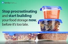 FamilyShare.com l How to store #food storage with limited space