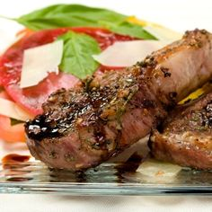 Lamb Chops Honey-Balsamic Lamb Chops - the sauce is fantastic! Has a variety of uses - we are putting the extra on steaks tonightHoney-Balsamic Lamb Chops - the sauce is fantastic! Has a variety of uses - we are putting the extra on steaks tonight Lamb Chop Recipes, Meat Recipes, Cooking Recipes, Healthy Recipes, Healthy Food, Food Network Recipes, Food Processor Recipes, Lamb Loin Chops, Gastronomia