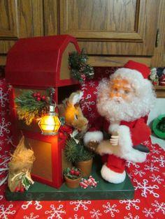 Santa's Best Animated Lighted Santa Feeds Dasher Diner Christmas Decoration  