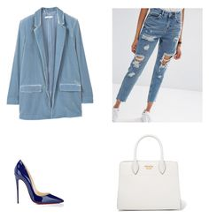 """""""Senza titolo #144"""" by anna-1999 ❤ liked on Polyvore featuring MANGO, ASOS, Christian Louboutin and Prada"""