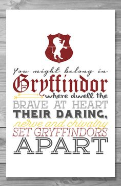 Hogwarts House Typography Poster Set Buy 3 get 1 by Shaileyann
