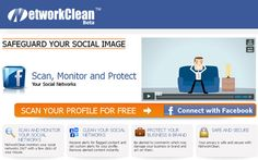 NetworkClean is a free social network monitoring service which protects and scans both personal and business Facebook pages