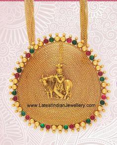 Filigree Gold Krishna Pendant