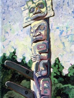 The woman who painted what the forest told her. Its tourist activities include surfing and fishing, Emily Carr, Victoria British Columbia, Haida Gwaii, Alaska Travel, Impressionist Paintings, Sound Waves, Vancouver Island, Bold Colors, Native Americans