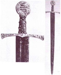 Sword from the Convent of San Vicente, near Logrono, Spain, circa 1250.    Records of the Medieval Sword, Oakeshott