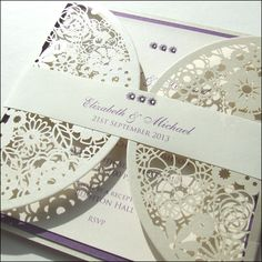 Doily Style Laser Cut Wedding Invitation by Wedding Paraphernalia Evening Wedding Invitations, Laser Cut Wedding Invitations, Wedding Invitation Design, Wedding Cards, Wedding Stationery, Wedding Sayings, Doily Invitations, Laser Cut Invitation, Create Invitations