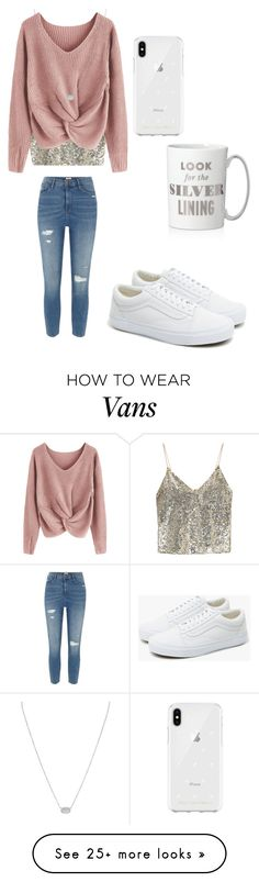"""Looking for the silver lining"" by sarahfohlen on Polyvore featuring Alice + Olivia, River Island, Rebecca Minkoff, Kendra Scott, Kate Spade, Vans, Winter and 2k18"