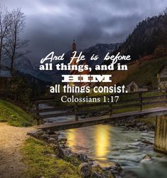 And HE is Before all things!!