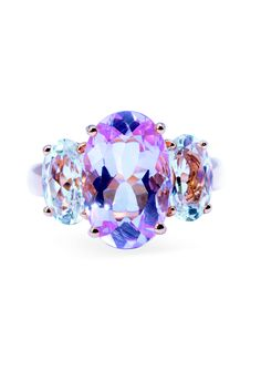 Rosendorff Amore Collection Pink Sapphire and Diamond Trilogy Ring                                                                                                                                                      More