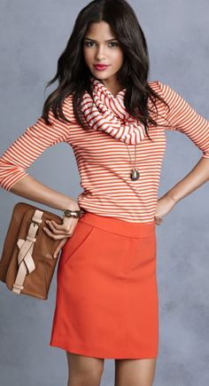 orange + stripes