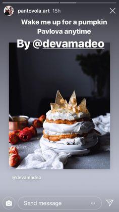 A Pumpkin, Pavlova, Dessert Table, Birthday Cake, Halloween, Desserts, Food, Tailgate Desserts, Deserts