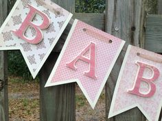 Baby Girl Shower Banner - Baby Girl Banner Shower Decor - Baby Banner - Nursery Banner - Baby Shower Decorations - Shabby Chic Baby Banner on Etsy, $26.00