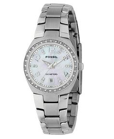 I think I found the one I want!  Fossil Watch, Women's Stainless Steel Bracelet AM4141 - Women's Watches - Jewelry & Watches - Macy's