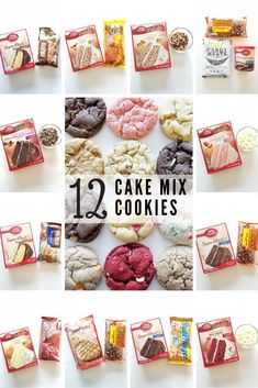 My Top favorite Cake Mix Cookie Combinations. Who knew that a cake mix cookie could be even better? Holiday Cookie Exchange made easy. # cake mix cookies 12 Cake Mix Cookie Recipes - A Cotton Kandi Life Cake Batter Cookies, Cake Mix Cookie Recipes, Cupcakes, Cake Mixes, Cookie Ideas, Cookies With Cake Mix, Strawberry Cake Mix Cookies, Cake Mix Desserts, Oreo Desserts