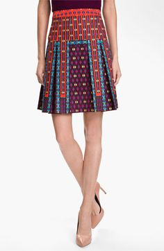 Nanette Lepore 'Universe' Pleated A-Line Skirt | Nordstrom