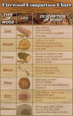 Choosing the Best Firewood   Common Firewood Types, along with their Benefits and Drawbacks   Outdoor Survival Skills, check it out at http://survivallife.com/choosing-the-best-firewood/