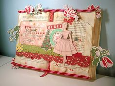 Two Crazy Crafters: Christmas ltered Book Tutorial