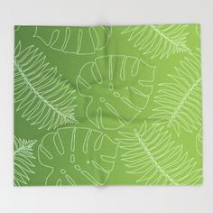 New In Store Jungle Leaf Ombre Throw Blanket