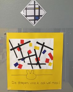 Strepen! Nijntje in het museum! Piet Mondrian, Fantasy Kunst, Black And White Abstract, Art Lesson Plans, School Projects, Art Education, Kids Playing, Art Lessons, Art History
