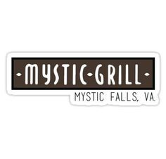 Mystic Grill - The Vampire Diaries Stickers
