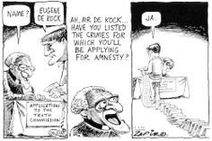 - Eugene De Kock Applies to the Truth Commission African National Congress, Apartheid, Insurgent, War Machine, Crime, Cartoons, How To Apply, Cartoon