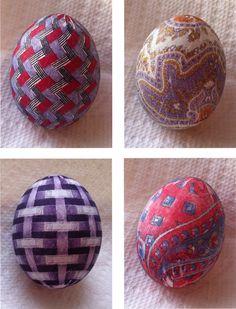 LakeNormanMommies: Holiday Crafting - Silk Tie Dyed Easter Eggs